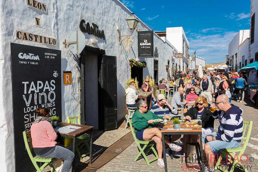 Street atmosphere. Teguise. Lanzarote, Canary islands, Spain, Europe