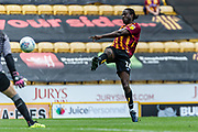 GOAL. Clayton Donaldson shoots and scores to make it 2-0 to Bradford City during the EFL Sky Bet League 2 match between Bradford City and Oldham Athletic at the Northern Commercials Stadium, Bradford, England on 17 August 2019.