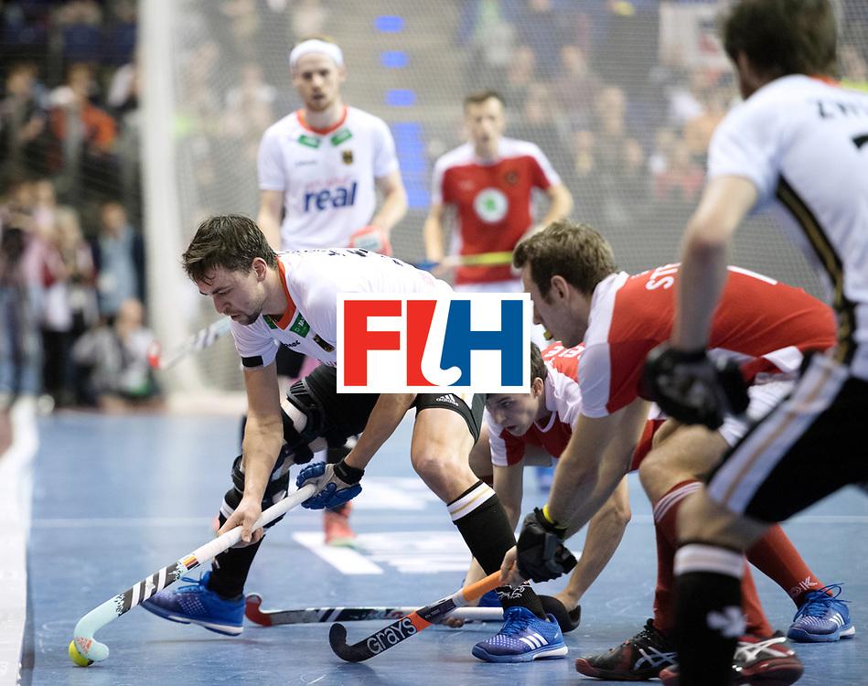 BERLIN - Indoor Hockey World Cup<br /> Final: Germany - Austria<br /> foto: Tobias Hauke <br /> WORLDSPORTPICS COPYRIGHT FRANK UIJLENBROEK