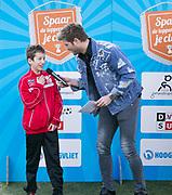 2018-030-21. DVSU, Utrecht. Kick-off sportplaatjesactie. Op de foto: Jelle Dijkman en Tim Douwsma