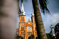 The old cathedral in downtown Ho Chi Minh City, Vietnam.