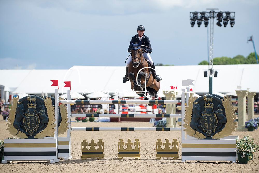 Maher Ben, GBR, Tic Tac<br /> Rolex Grand Prix Jumping<br /> Royal Windsor Horse Show<br /> &copy; Hippo Foto - Jon Stroud