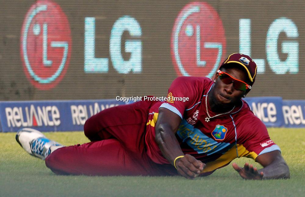 Andre Russell - West Indies v Australia, ICC World Twenty20, Bangladesh 2014. 28 March 2014, Sher-e-Bangla National Cricket Stadium, Mirpur. Photo: Shamsul hoque Tanku/www.photosport.co.nz