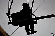 Poland, Wisla Malinka - 2017 November 18: Skijumper on ski lift during FIS Ski Jumping World Cup Wisla 2017/2018 - Day 1 at jumping hill of Adam Malysz on November 18, 2017 in Wisla Malinka, Poland.<br /> <br /> Mandatory credit:<br /> Photo by © Adam Nurkiewicz<br /> <br /> Adam Nurkiewicz declares that he has no rights to the image of people at the photographs of his authorship.<br /> <br /> Picture also available in RAW (NEF) or TIFF format on special request.<br /> <br /> Any editorial, commercial or promotional use requires written permission from the author of image.