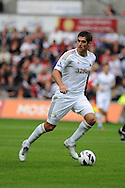 Swansea city's Danny Graham .Pre-season friendly match, Swansea city v Blackpool at the Liberty Stadium in Swansea, South Wales on Tuesday 7th August 2012. pic by Andrew Orchard, Andrew Orchard sports photography,