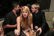 CHRIS SIMON, MEREDITH OSTRON AND NICK RHODES, Party hosted by Larry Gagosian at Nobu, Berkeley St. London. 9 October 2007. -DO NOT ARCHIVE-© Copyright Photograph by Dafydd Jones. 248 Clapham Rd. London SW9 0PZ. Tel 0207 820 0771. www.dafjones.com.