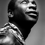 Youssou N'dour, african musician. feb 2000<br /> Youssou N'Dour (French pronunciation: [jusu nˈduʁ]; born 1 October 1959) is a Senegalese singer, percussionist, songwriter, composer, occasional actor, businessman and a politician. In 2004, Rolling Stone described him as, &quot;perhaps the most famous singer alive&quot; in Senegal and much of Africa.[1] Since April 2012, he has been Senegal's Minister of Tourism and Culture.