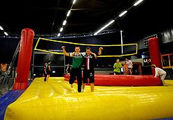 07-04-2009 VOLLEYBAL: EK JEUGD EVENTS: ROTTERDAM <br /> Indoorvelden, UVX, Bossaball en Beachvolleybal waren in Hal 2 opgezet om de jeugd kennis te laten maken met volleybal<br /> ©2009-WWW.FOTOHOOGENDOORN.NL