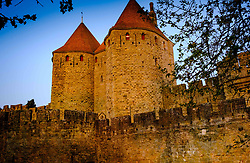 Just after dawn the first rays of sunlight glance across the walls and turrets of the medieval Cit&eacute; de Carcassonne in southern France<br /> <br /> (c) Andrew Wilson   Edinburgh Elite media