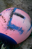 Bouy painted with the letter E on Inis Oirr the Aran Islands Galway Ireland