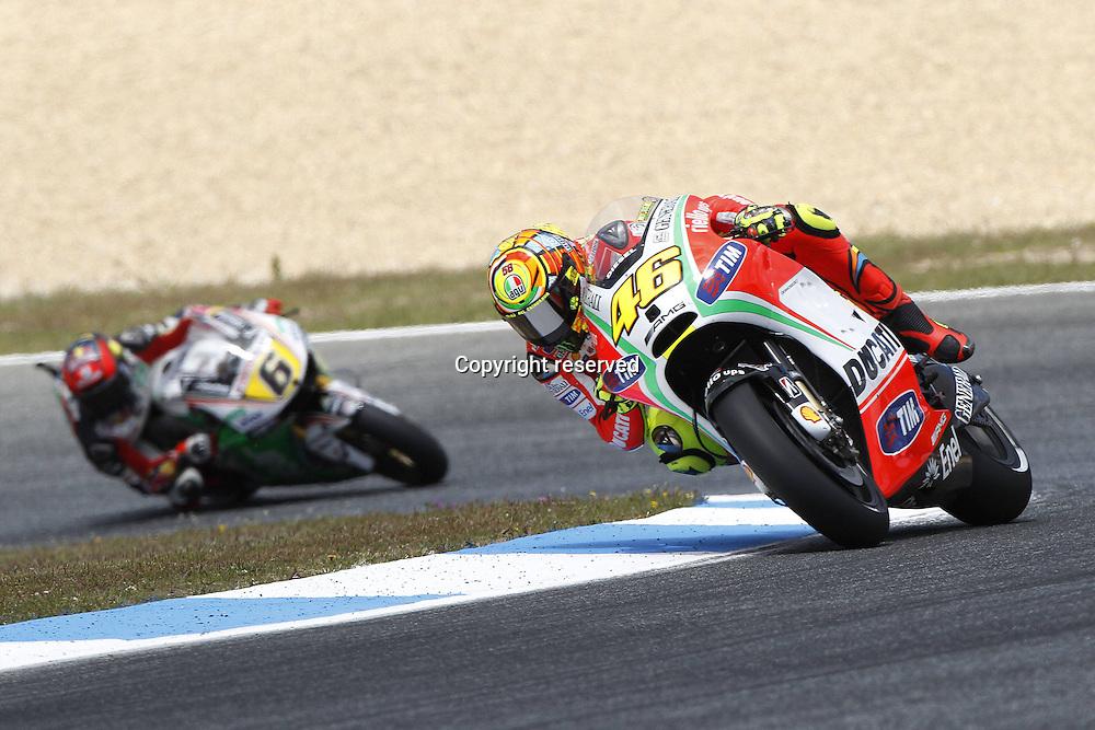 06.05.2012. Estoril, Portugal. Moto Grand Prix of Estoril. in The Picture Valentino Rossi Ducati team