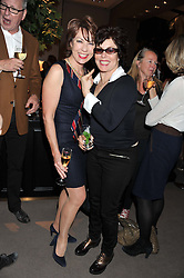 Left to right, KATHY LETTE and RUBY WAX at the launch party for Spectator Life hosted by Andrew Neil at Asprey, 167 New Bond Street, London on 28th March 2012.