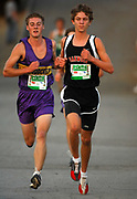 Oct 20, 2006; Walnut, CA, USA; Kody Petersen of Woodcrest Christian (left) and Aric Van Halen place second and third in the Division V sweepstakes race in 15:33 and 15:44 over the 2.91-mile course in the 59th Mt. San Antonio College Cross Country Invitational.