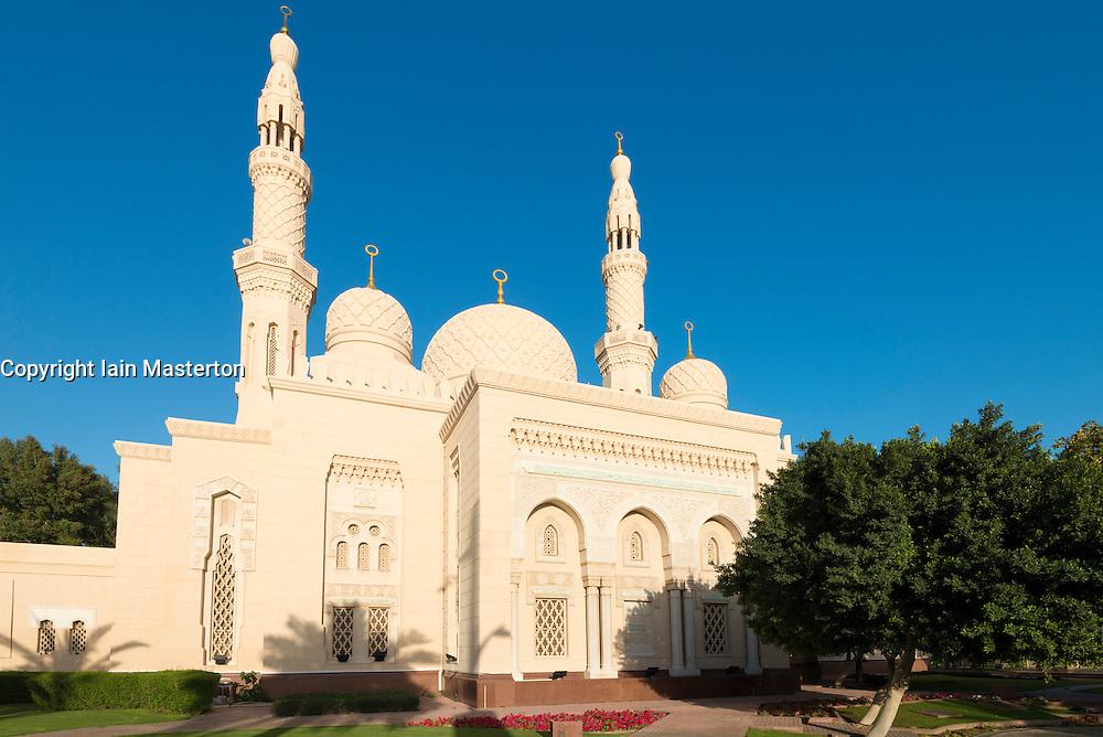View of Jumeirah Grand Mosque in Dubai United Arab Emirates UAE