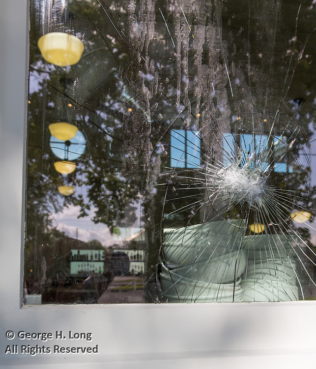 vandalism, damage to exterior of the St. Roch Market at 2381 St Claude Avenue; St. Roch neighborhood