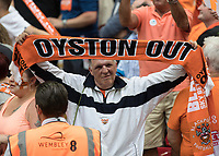 Football - 2017 Sky Bet [EFL] League Two Play-Off Final - Blackpool vs. Exeter City<br /> <br /> Protests continue about the Oyston ownership despite a Blackpool win  at Wembley.<br /> <br /> COLORSPORT/DANIEL BEARHAM