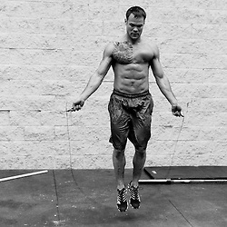 Andrew Balha looking ripped working on double unders, Crossfit image, picture, photo, photography of health, elite, exercise, training, workouts, WODs, taken at Progressive Fitness CrossFit,Colorado Springs, Colorado, USA