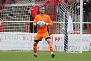 AFC Wimbledon goalkeeper George Long (1) with ball in his hands during the Pre-Season Friendly match between Ebbsfleet and AFC Wimbledon at Stonebridge Road, Ebsfleet, United Kingdom on 29 July 2017. Photo by Matthew Redman.
