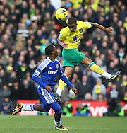 Picture by Paul Chesterton/Focus Images Ltd.  07904 640267.21/01/12.Kyle Naughton of Norwich and Daniel Sturridge of Chelsea in action during the Barclays Premier League match at Carrow Road Stadium, Norwich.