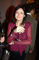 A party hosted by Mario Testino, Bianca Jagger and Kenneth Cole in collaboration with UNFPA and Marie Stopes International to celebrate the publication of Women to Woman: Positively Speaking - a book to raise awareness of women living with HIV/Aids, held at The Orangery, Kensington Palace, London on 2nd December 2004.<br />Picture shows:- CRISTINA ODONE<br /><br />NON EXCLUSIVE - WORLD RIGHTS