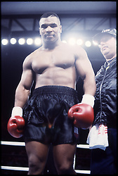 18 March 1991:  Mike Tyson before his fight with Razor Ruddock at the Mirage in Las Vegas, NV...Mandatory Credit:  John Iacono/Icon SMI