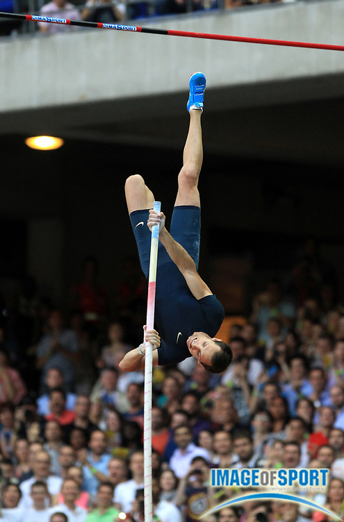 Jul 6, 2013; Paris Saint-Denis, FRANCE; Renaud Lavellenie (FRA) wins the pole vault at 19-5 (5.92m) in the 2013 Meeting Areva at Stade de France. Photo by Jiro Mochizuki