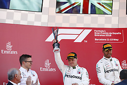 May 13, 2018 - Barcelona, Spain - Motorsports: FIA Formula One World Championship 2018, Grand Prix of Spain, .Peter Bonnington, #77 Valtteri Bottas (FIN, Mercedes AMG Petronas Motorsport), #44 Lewis Hamilton (GBR, Mercedes AMG Petronas Motorsport) (Credit Image: © Hoch Zwei via ZUMA Wire)