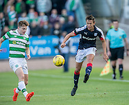 Dundee&rsquo;s Danny Williams and Celtic&rsquo;s James Forrest - Dundee v Celtic in the Ladbrokes Scottish Premiership at Dens Park, Dundee. Photo: David Young<br /> <br />  - &copy; David Young - www.davidyoungphoto.co.uk - email: davidyoungphoto@gmail.com