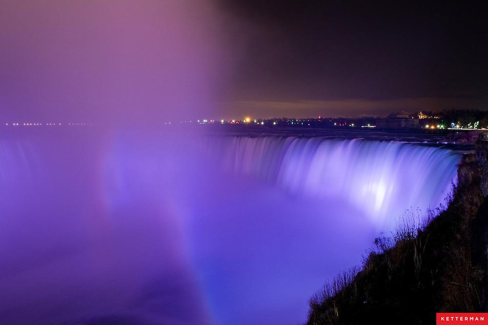 Niagara Falls as seen from Ontario, Canada.