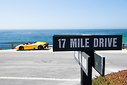 August 15, 2019:  Monterey Car Week, 17 mile drive sign, Pebble Beach