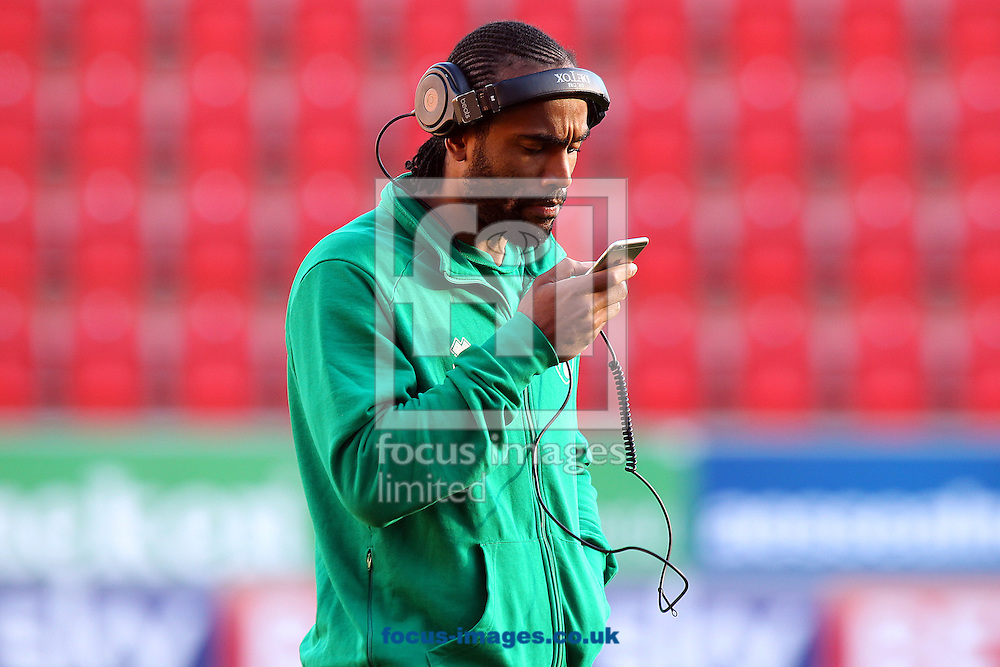 Cameron Jerome of Norwich before the Sky Bet Championship match at the AESSEAL New York Stadium, Rotherham<br /> Picture by Paul Chesterton/Focus Images Ltd +44 7904 640267<br /> 14/01/2017