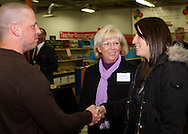(from left) Brian Brandanburg of World Financial Group, Jeanne Porter of Women In Business Networking and Jessica Porter Huff of Women In Business Networking during a BBB networking event at Crayons to Classrooms in Dayton, Tuesday, February 28, 2012.