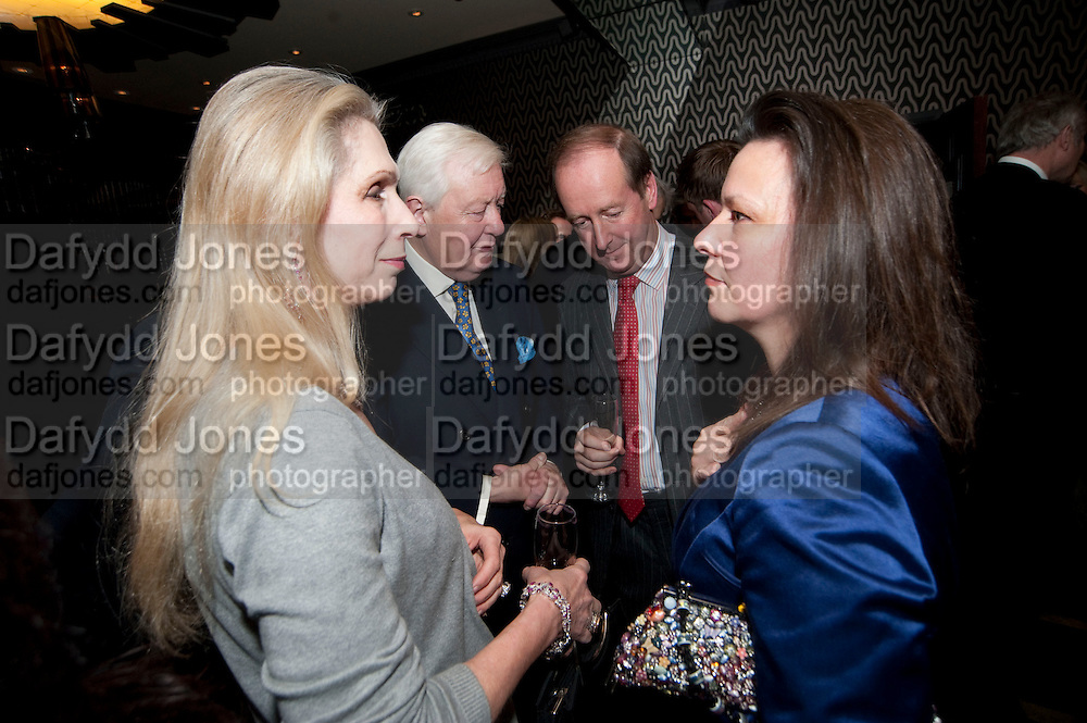 LADY GEORGIE CAMPBELL; SIR HUMPHREY WAKEFIELD; LORD NORTHBROOK; , Liz Brewer GIVES A PARTY TO WELCOME 2010, Champagne <br /> Flemings Mayfair, 13 Half Moon Street, London. 5 January 2010