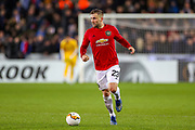 Manchester United defender Luke Shaw (23) during the Europa League match between Club Brugge and Manchester United at Jan Breydel Stadion, Brugge, Belguim on 20 February 2020.