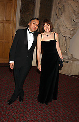 Writer KAZUO ISHIGURO a finalist in the 2005 Man Booker Prize and his wife LORNA ISHIGURO at a dinner to announce the 2005 Man Booker Prize held at The Guilhall, City of London on 10th October 2005.<br />