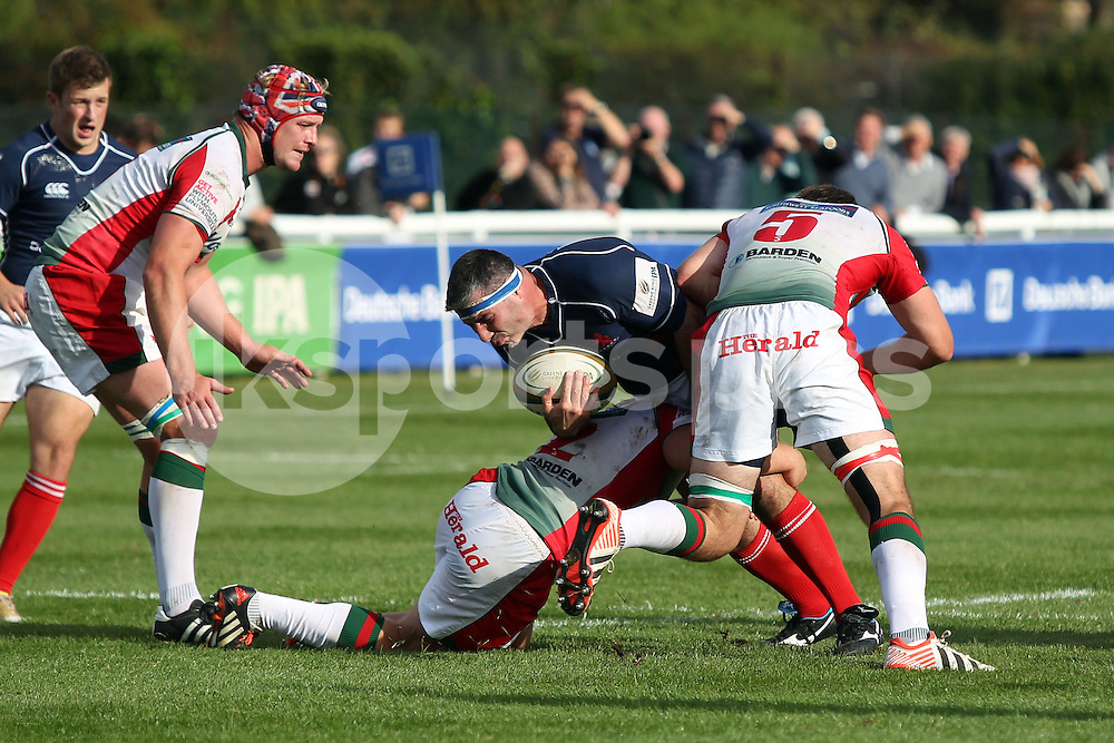Ben Prescott in action during the Green King IPA Championship match between London Scottish &amp; Plymouth Albion at Richmond, Greater London on Sunday 5th October 2014<br /> <br /> Photo: Ken Sparks | UK Sports Pics Ltd<br /> London Scottish v Plymouth Albion, Green King IPA Championship,5th October 2014<br /> <br /> &copy; UK Sports Pics Ltd. FA Accredited. Football League Licence No:  FL14/15/P5700.Football Conference Licence No: PCONF 051/14 Tel +44(0)7968 045353. email ken@uksportspics.co.uk, 7 Leslie Park Road, East Croydon, Surrey CR0 6TN. Credit UK Sports Pics Ltd