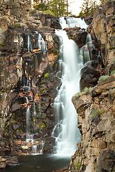 """Webber Falls 1"" - Photograph of a flowing Webber Falls, near Webber Lake, north of Truckee California."