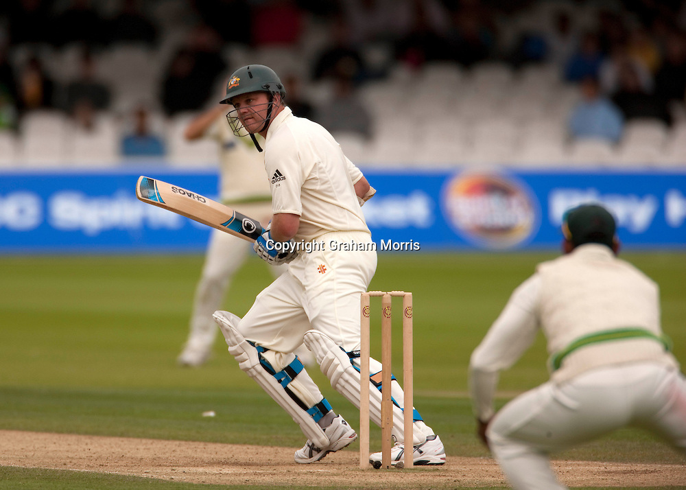 Doug Bollinger bats during the MCC Spirit of Cricket Test Match between Pakistan and Australia at Lord's.  Photo: Graham Morris (Tel: +44(0)20 8969 4192 Email: sales@cricketpix.com) 15/07/10