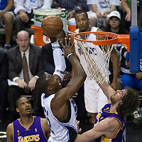 BASKET BALL - PLAYOFFS NBA 2008/2009 - LOS ANGELES LAKERS V ORLANDO MAGIC - GAME 3 -  ORLANDO (USA) - 09/06/2009 - .DWIGHT HOWARD (MAGIC), PAU GASOL (LAKERS)