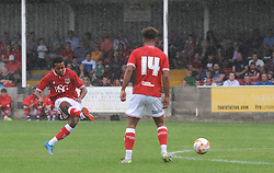 Korey Smith of Bristol City scores the opening goal of the game - Photo mandatory by-line: Dougie Allward/JMP - Mobile: 07966 386802 - 05/07/2015 - SPORT - Football - Bristol - Brislington Stadium - Pre-Season Friendly
