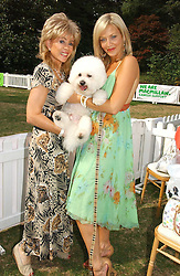 SALLY FARMILOE with her dog Pasha and tv presenter LIZ FULLER at the Macmillan Cancer Support Dog Day held in the gardens of the Royal Hospital, Chelsea, London on 4th July 2006.<br /><br />NON EXCLUSIVE - WORLD RIGHTS