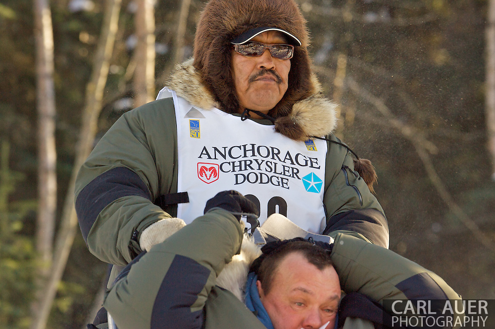 March 7th, 2009:  Anchorage, Alaska - Mike Williams of Akiak, Alaska during the 2009 Iditarod.