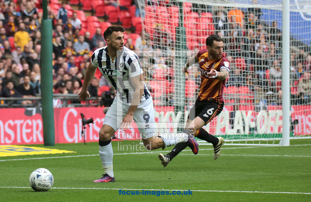 Millwall forward Lee Gregory during the Sky Bet League 1 play-off final at Wembley Stadium, London<br /> Picture by Glenn Sparkes/Focus Images Ltd 07939664067<br /> 20/05/2017
