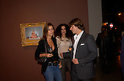 Andreina Recao, Danielle Moudabbet and Iain Benatar, George Condo opening of Religeous paintings, Spruth Magers and Lee,  Berkeley St. 12 October 2004. ONE TIME USE ONLY - DO NOT ARCHIVE  © Copyright Photograph by Dafydd Jones 66 Stockwell Park Rd. London SW9 0DA Tel 020 7733 0108 www.dafjones.com