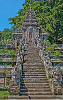 Stairway and portal of the gods at Pura Kehen Temple near Bangli in Eastern Bali Indonesia