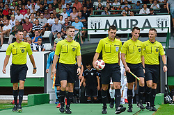 Referees prior football match between NS Mura and NK Triglav Kranj in 1st Round of Prva liga Telekom Slovenije 2018/19, on July 21, 2018 in Mestni stadion Fazanerija, Murska Sobota , Slovenia. Photo by Mario Horvat / Sportida