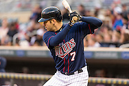 Joe Mauer #7 of the Minnesota Twins prepares to bat during a game against the Los Angeles Angels on April 16, 2013 at Target Field in Minneapolis, Minnesota.  The Twins defeated the Angels 8 to 6.  Photo: Ben Krause