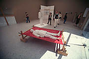 VENICE, ITALY..June 1995..46th Biennale of Venice.Hungarian Pavillion..Installation by Gyo?rgy Jovanovic..(Photo by Heimo Aga)