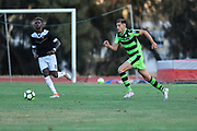 Forest Green Rovers Jack Fitzwater(16) runs forward during the Pre-Season Friendly match between SC Farense and Forest Green Rovers at Estadio Municipal de Albufeira, Albufeira, Portugal on 25 July 2017. Photo by Shane Healey.
