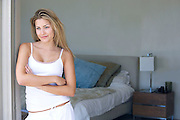 Woman in the Doorway of Her Bedroom